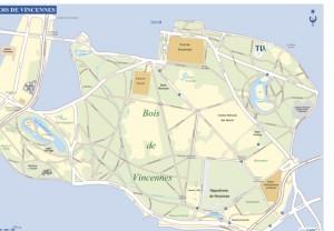 Map Bois de Vincennes