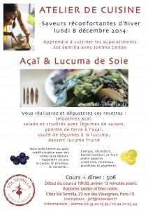 Affiche Atelier cuisine Joelma 12 2014
