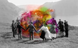 Color ball tribal dance
