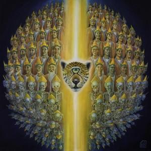 Transcending Duality Hule siur toile 100x100 cm