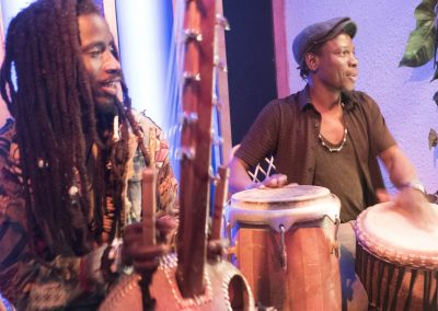 Boubacar Kafango & Joel on drums