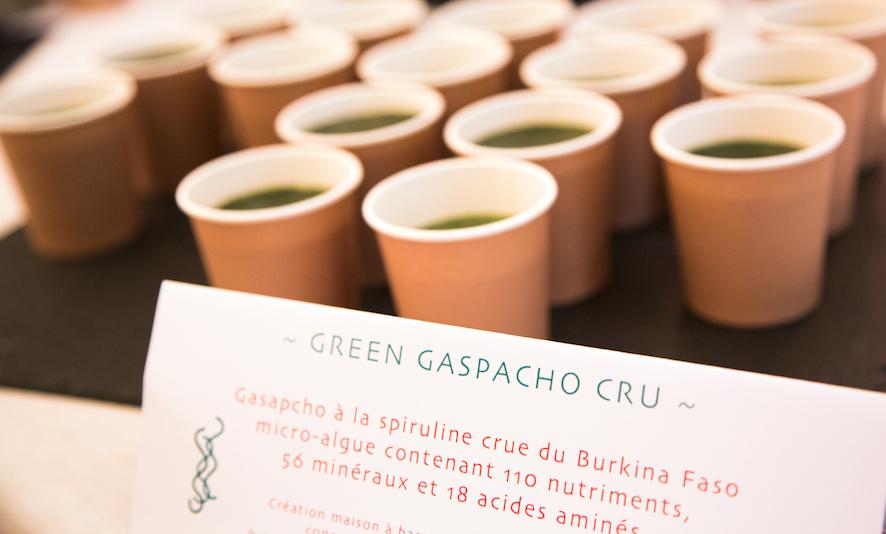 Gaspacho cru spiruline - Traiteur Bio, vegan Sol Semilla